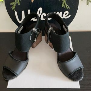 New Toms High heal wedges sandal shoes